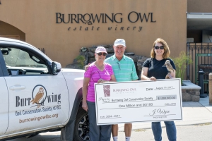 Burrowing Owl Hits Charitable Milestone